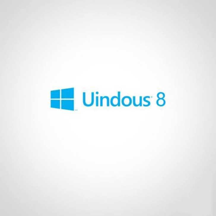 """logotipo de Windows con la letra """"uindous"""""""