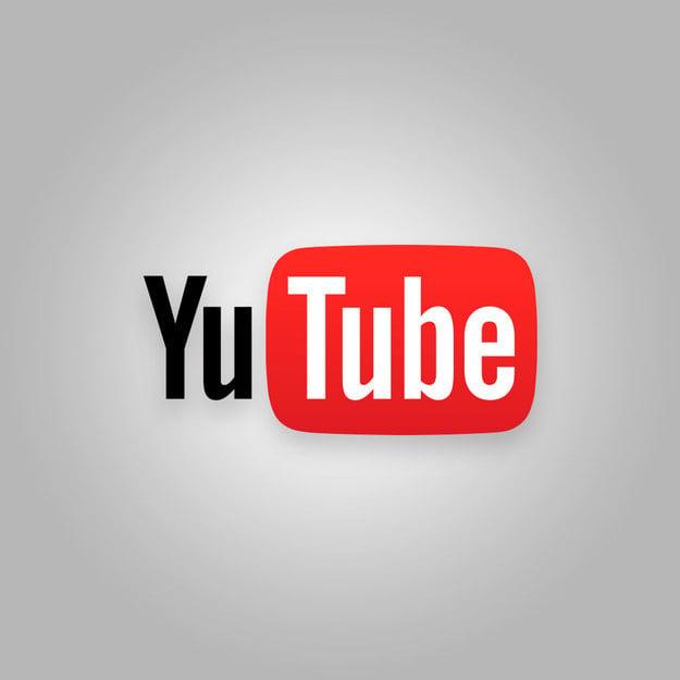 "Logotipo de You tube mal escrito con la frase ""Yu Tube"""