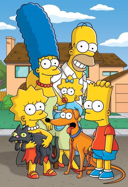 Los Simpson afuera de su casa