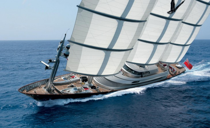 el yate Halcón Maltés con un valor de $120 millones de dólares