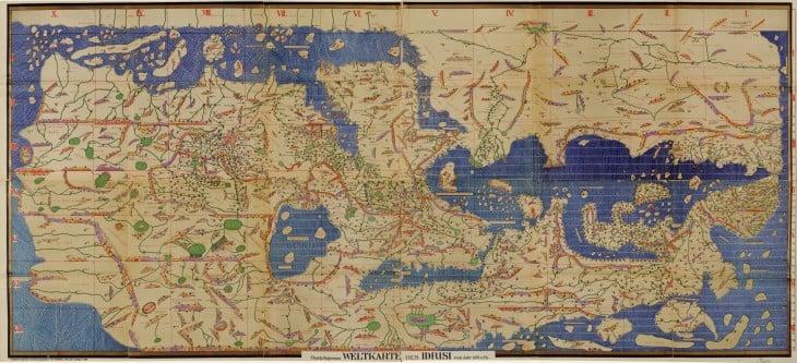 un mapa del mundo en 1154