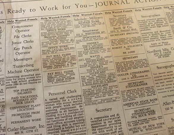 página de un periódico de 1960
