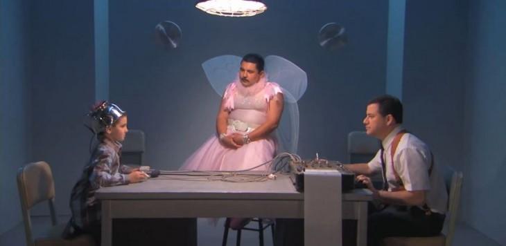 fotografía del show de Jimmy Kimmel Live en su sección detective de mentiras