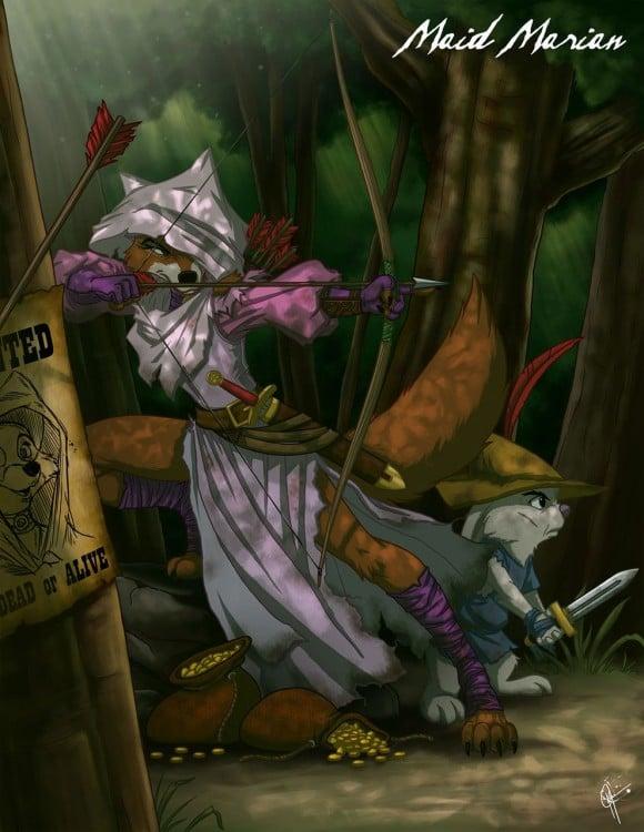 zorrita de la princesa y el sabueso en modo malcado