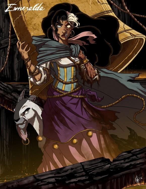 esmeralda, el jorobadode notredameen su versiòn malefica