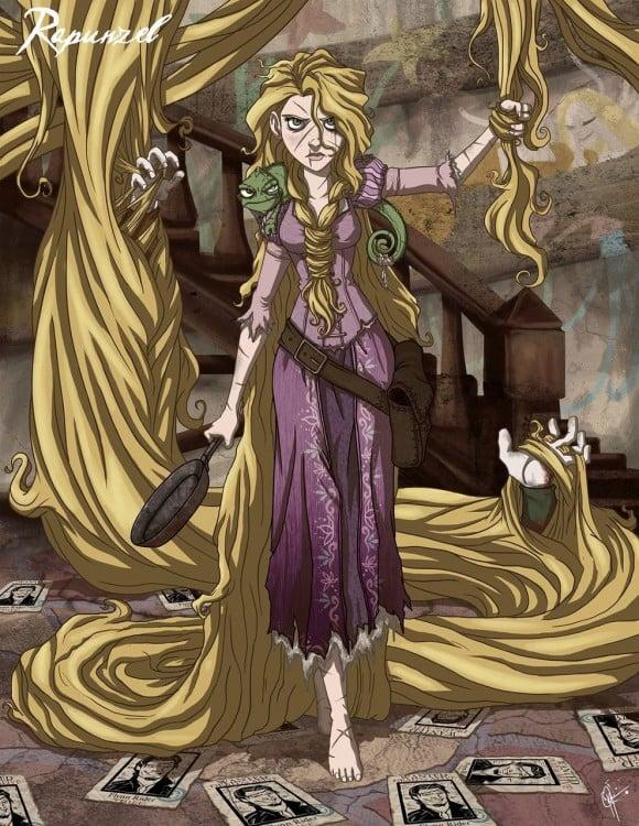rapunzel, en su versión malévola