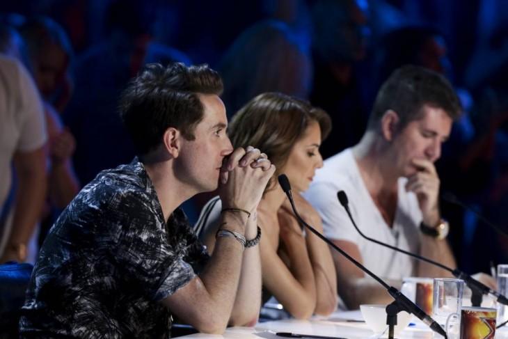 Fotografía de los jueces del concurso Factor X