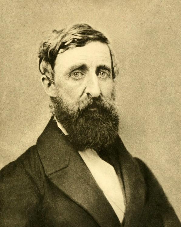 Fotografía del escritor estadounidense Henry David Thoreau