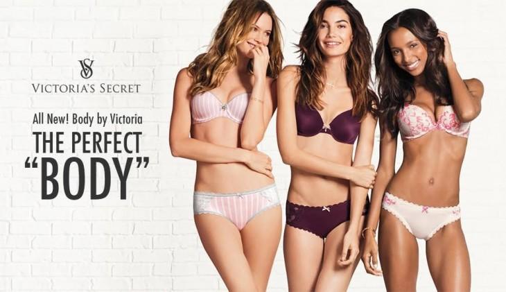 Tres modelos de la publicidad de Victoria Secret del Cuerpo Perfecto