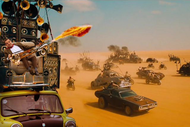 Mr. Bean en una escena de Roars Down Fury Road