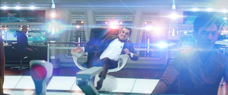 Photoshop de Mr. Bean en una nave