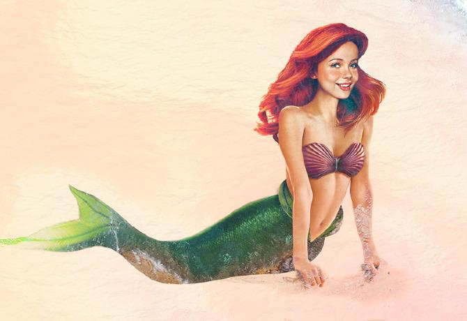 """Retrato de carne y hueso de Ariel """"La Sirenita"""""""