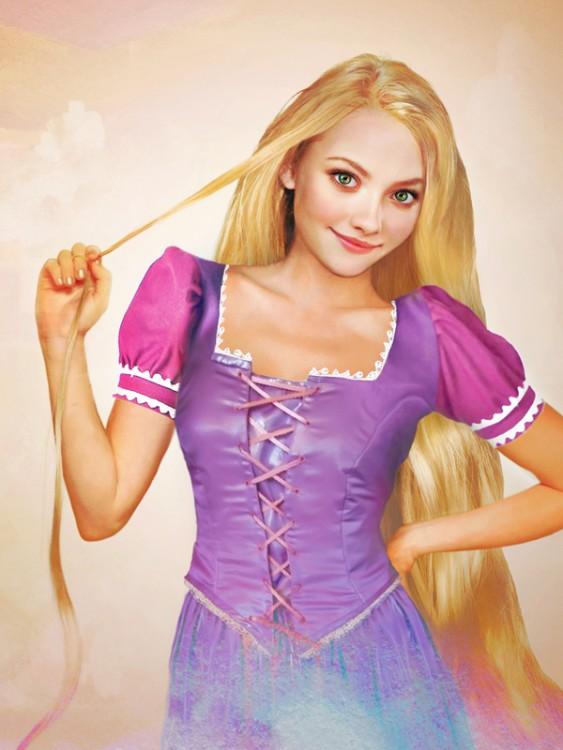 Retrato de Rapunzel de carne y hueso