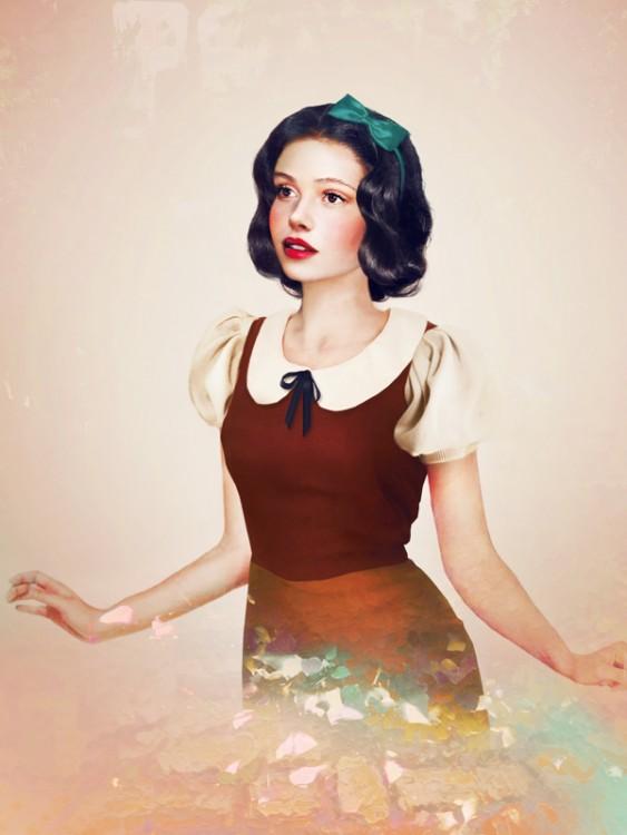 Retrato de Blancanieves en la vida real