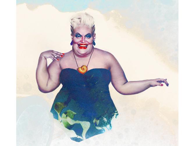 """Retrato de carne y hueso de Ursula la villana de """"La Sirenita"""""""