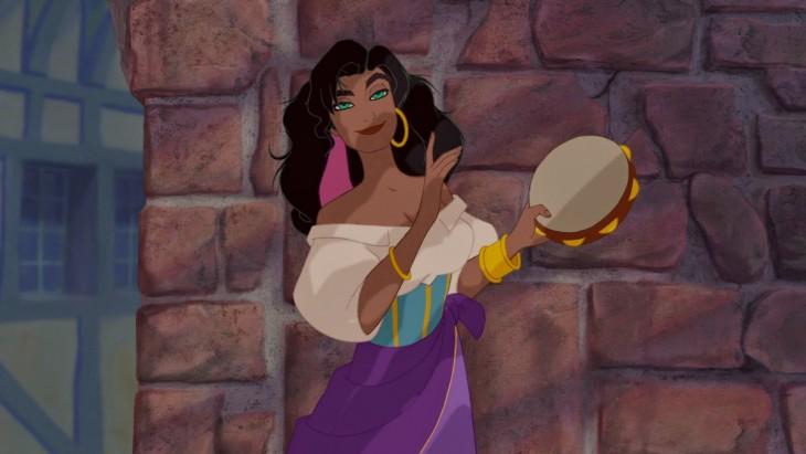 Esmeralda de la película el Jorobado de Notre Dame