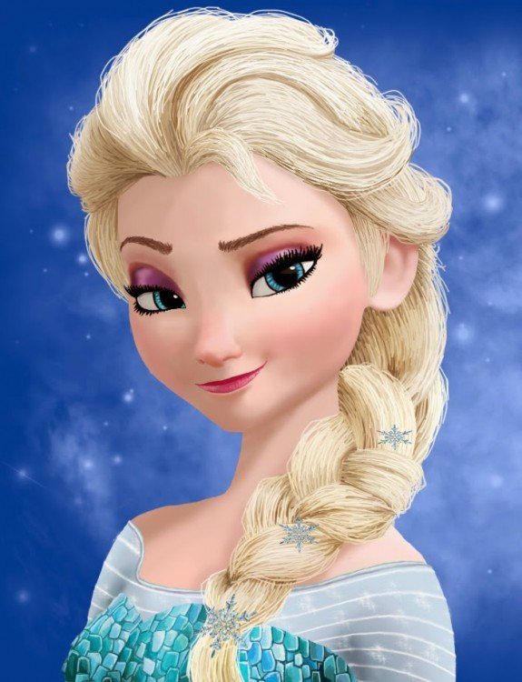 Princesa Elsa de la película Frozen