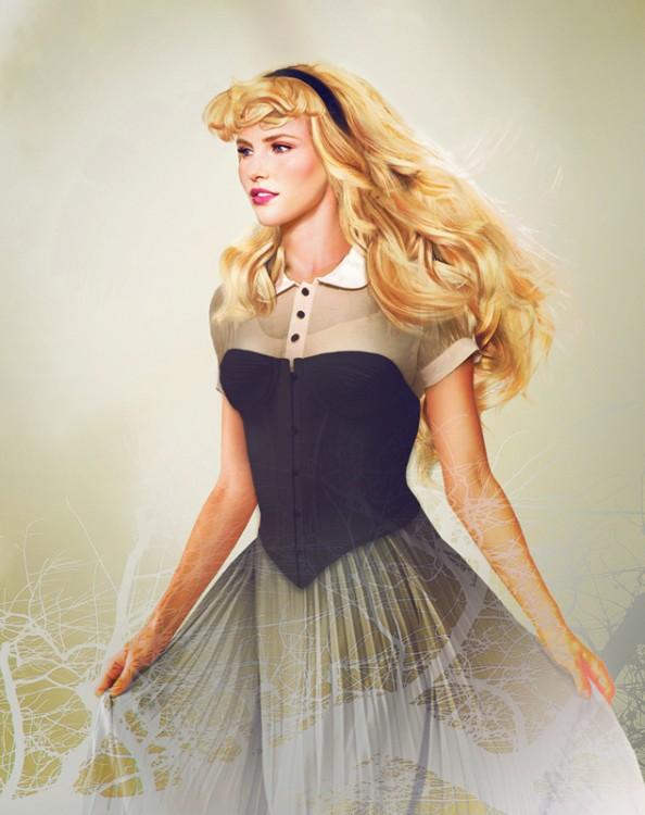"""Retrato de la princesa Aurora de la """"Bella durmiente"""""""