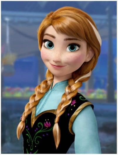 Anna personaje de la película frozen