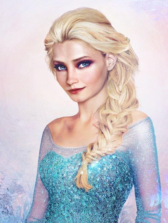 Elsa de frozen si fuera en la vida real