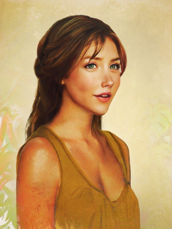 Retrato Jane de tarzán de carne y hueso