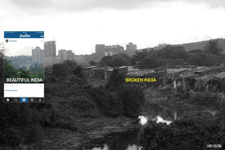 Fotografía detrás de las imágenes de Instagram Bombay, en India