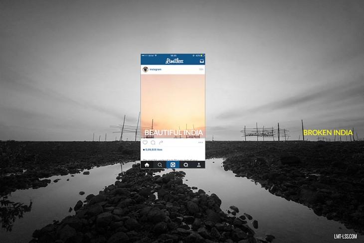 imagen detrás de las fotos de instagram en India