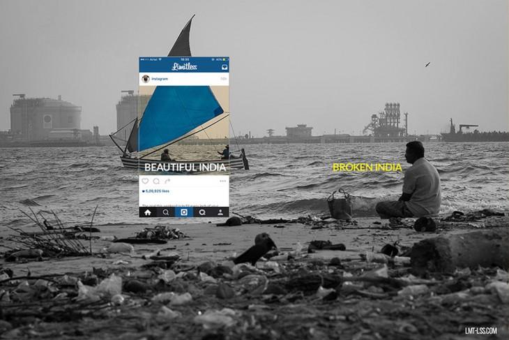 Broken india, proyecto fotografías detrás de las imágenes en Instagram