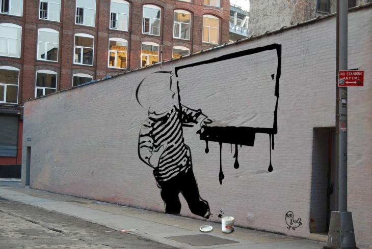 el niño reddit en un graffiti urbano
