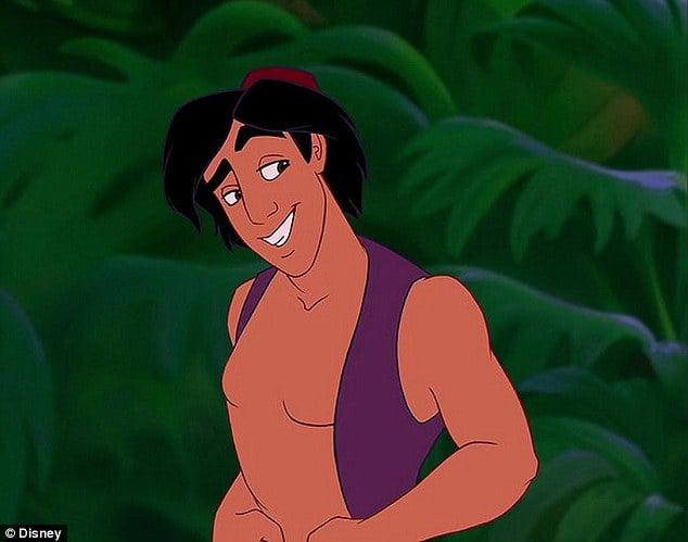 Aladdín con el cuerpo según Disney