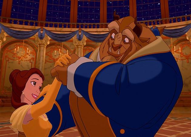 Escena de la película la Bella y la bestia
