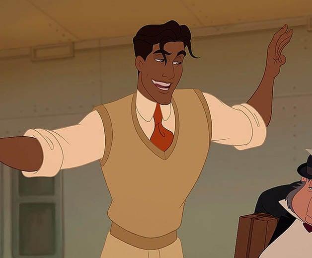 Príncipe Naveen con el cuerpo en forma de triángulo perfecto