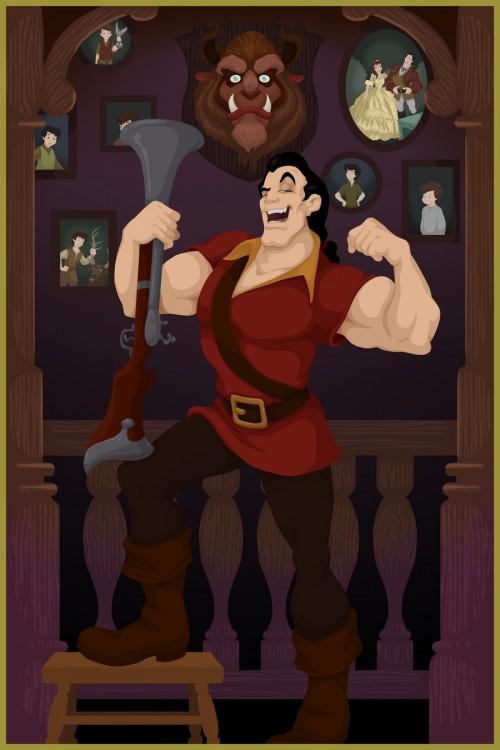 Gaston final feliz do filme A Bela ea Fera