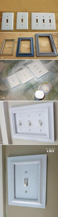 interruptores de la luz decorados con porta retratos
