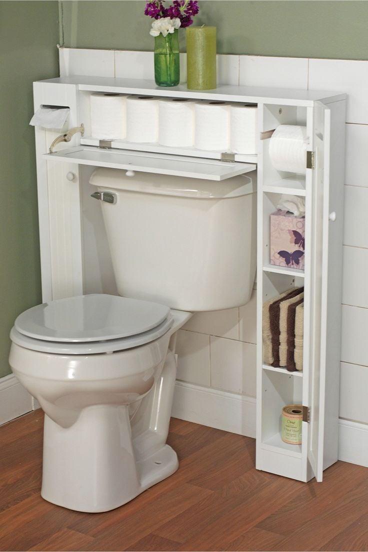 si tienes un bao pequeo ahorra espacio con este estante with muebles para decorar