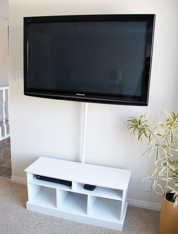 oculta los cables de la televisin con la barra de la cortina de bao