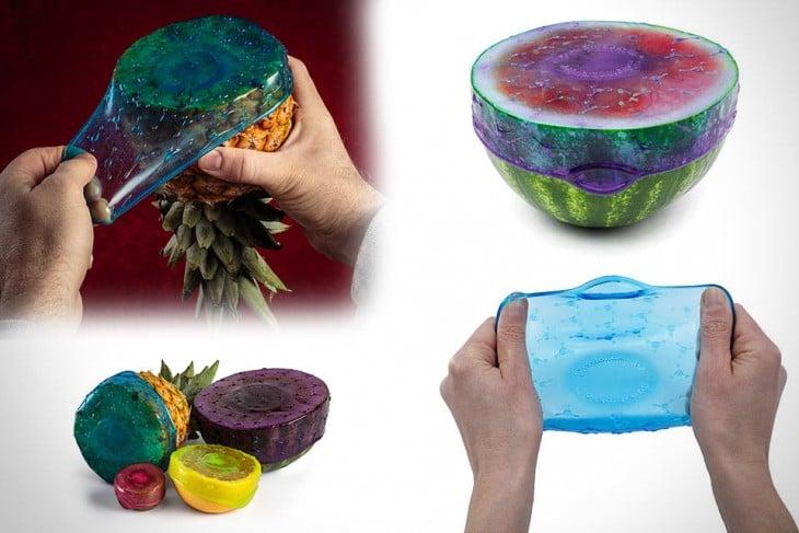 sellador elástico para cubrir frutas y vegetales