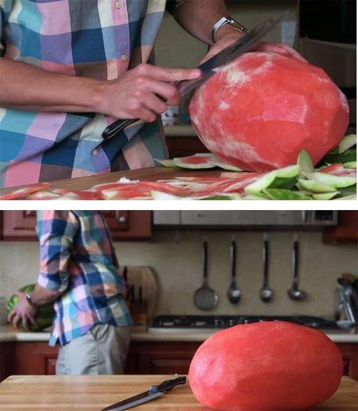 Imagen de como pelar una sandía