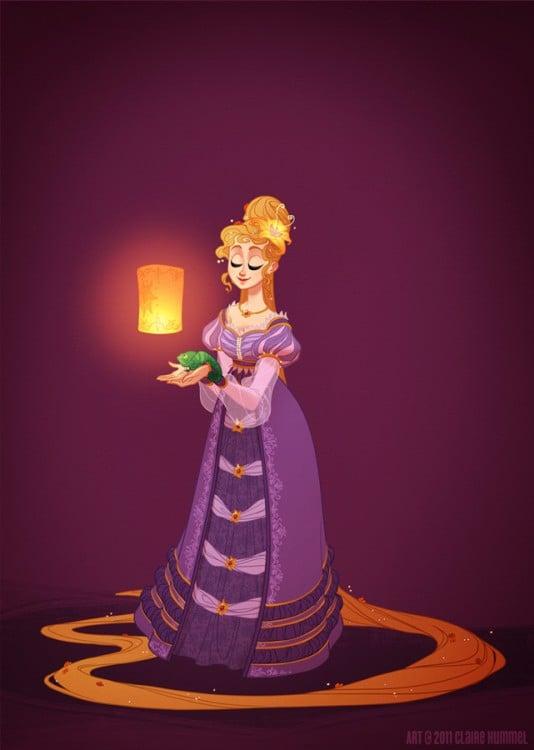 Rapunzel: 1820 según artista