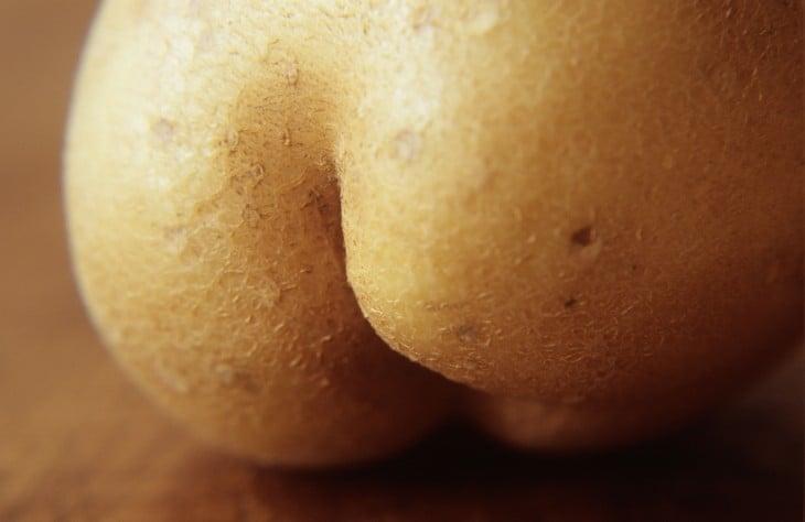 A parte traseira em forma de batata