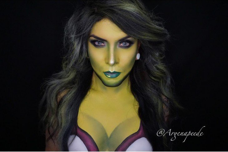 Argenis Pinal se transformó en She Hulk con simple maquillaje