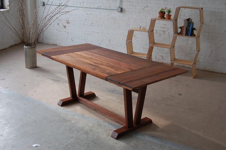 sofa de madera que se hace mesa
