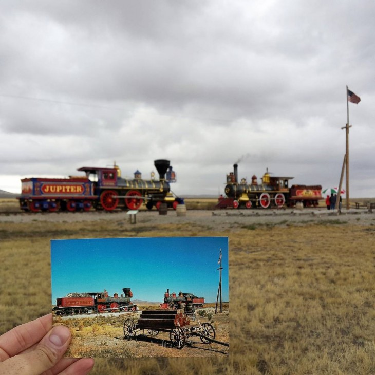Golden Spike National Historic Site in Promontory Summit, Utah | September 1974 & September 2015