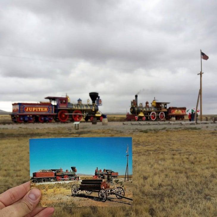 Golden Spike National Historic Site in Promontory Summit, Utah | September 1974 & September 2015