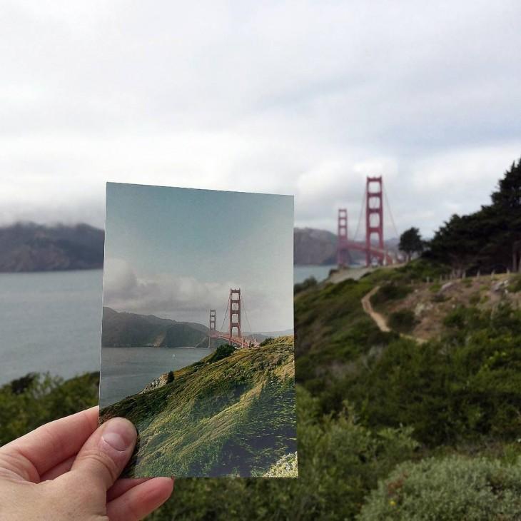 Golden Gate Bridge in San Francisco, California | April 1979 & May 2015