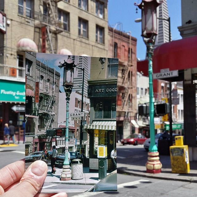 Chinatown in San Francisco, California | April 1979 & May 2015