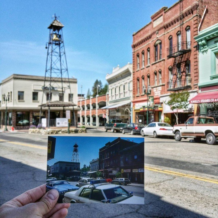 Main Street in Placerville, California | June 1981 & May 2015