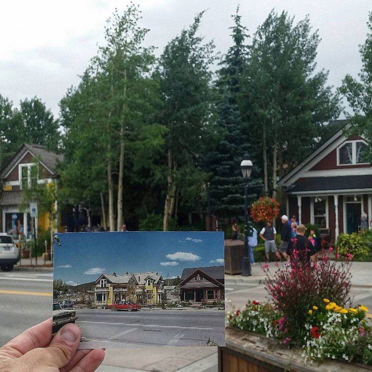 Main Street in Breckenridge, Colorado | June 1981 & July 2015