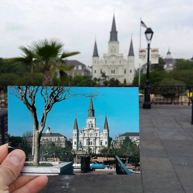 St. Louis Cathedral in New Orleans, Louisiana | February 1978 & April 2014
