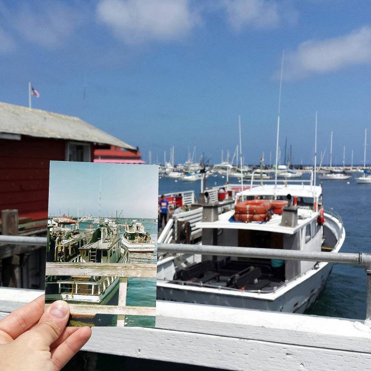 Fisherman's Wharf in Monterey, California | April 1979 & May 2015
